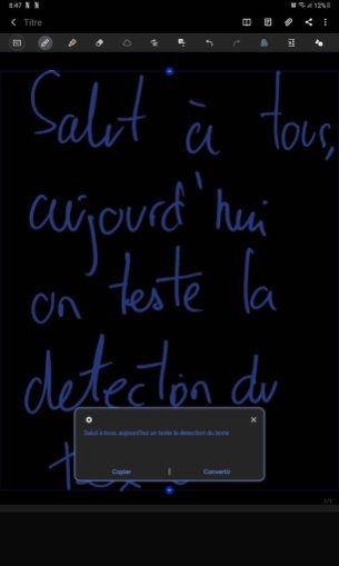 Samsung Galaxy Tab S6 Lite - Reconnaissance du texte