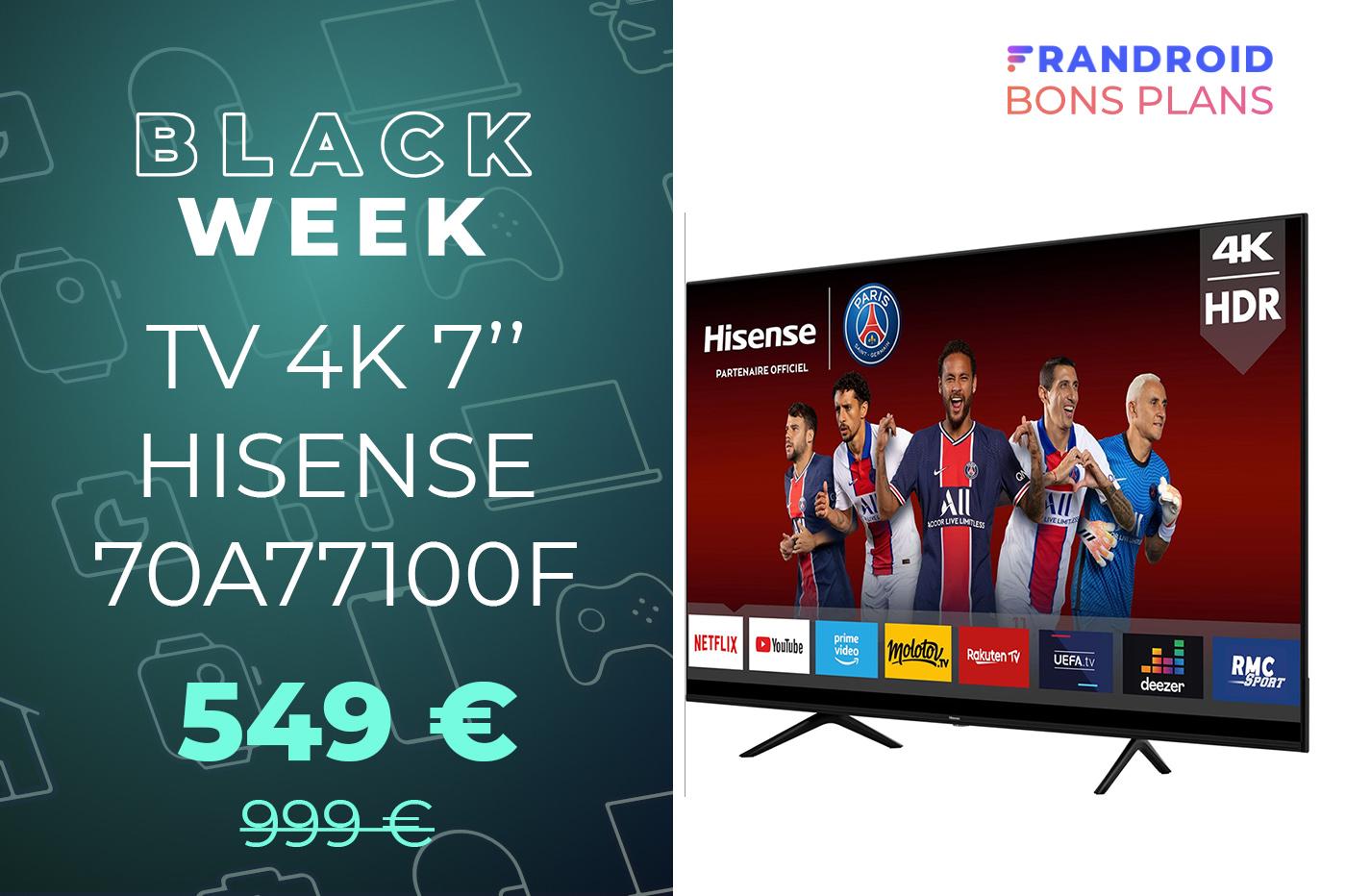 voici le tv 4k de 70 le moins cher du
