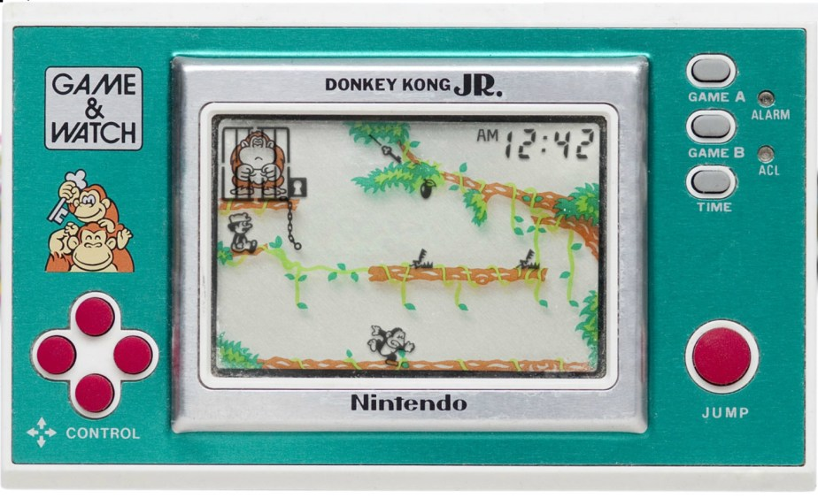 Le jeu Donkey Kong Jr. sur Game and Watch // Source : Pica-Pic-60x60.com