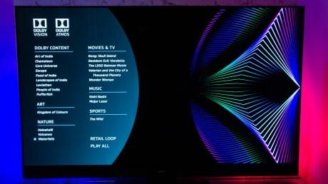 Le contenu du Blu-ray de demo Dobly Vision et Dolby Atmos