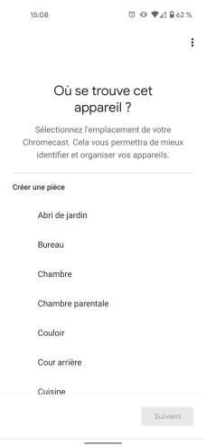 Localiser le Chromecast permet de l'identifier facilement par la suite // Source : Frandroid