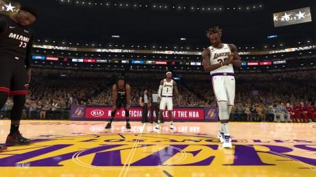 Le jeu NBA 2K21 en version PS5 // Source : Capture du jeu / 2K Sports