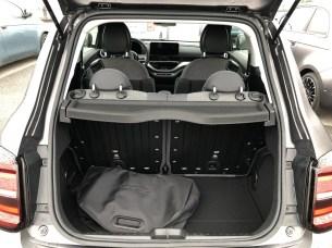 Coffre de la Fiat 500 Electrique