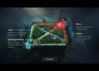 La map de League of Legends : Wild Rift