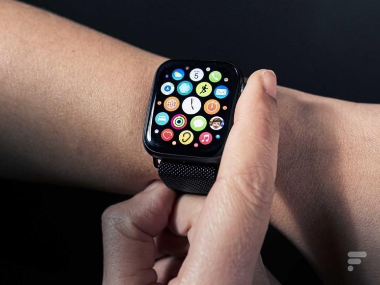 L'interface de l'Apple Watch SE