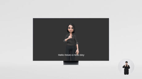 Samsung plans to add an avatar that speaks sign language to its TVs