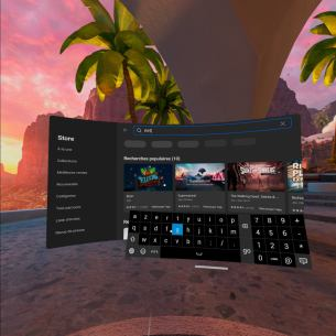 oculus quest 2 interface clavier