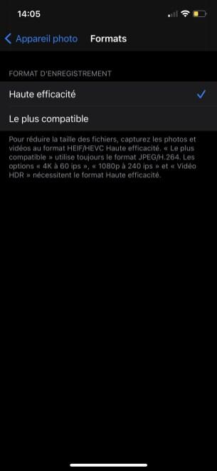 Comment enregistrer les photos en JPEG par défaut sur iOS 03