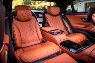 The rear seats of the Mercedes S-Class // Source: Marius Hanin