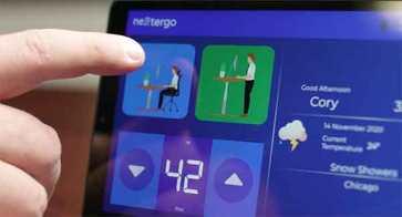 Le bureau connecté dresse le bilan de vos positions de travail // Source : NextErgo