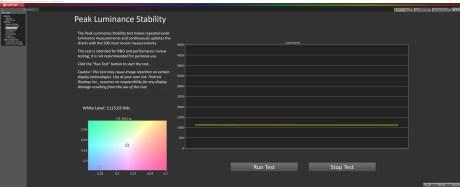Pic de luminosité en mode HDR Dynamique avec la mire à 10%