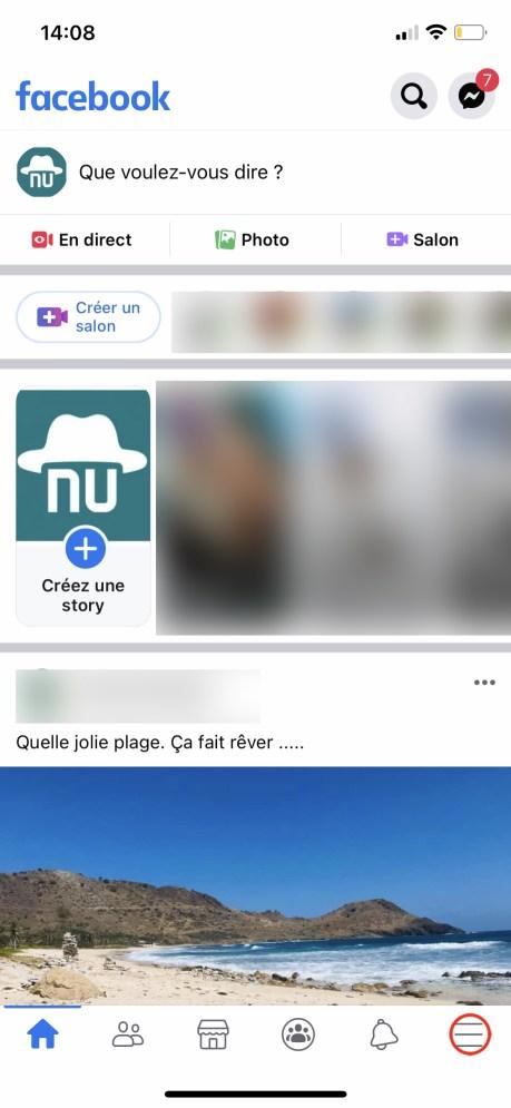 Comment changer son nom sur Facebook de son appli smartphone 01