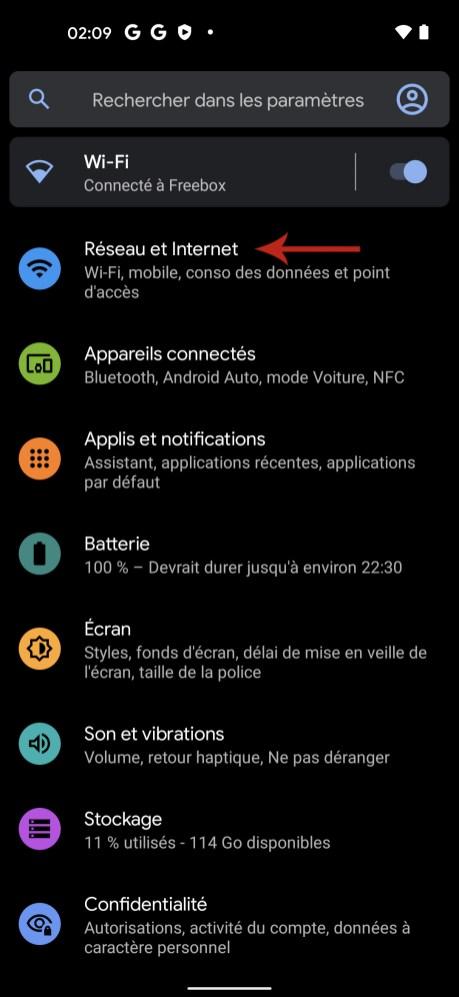 Comment connaitre son adresse IP sur Android 01