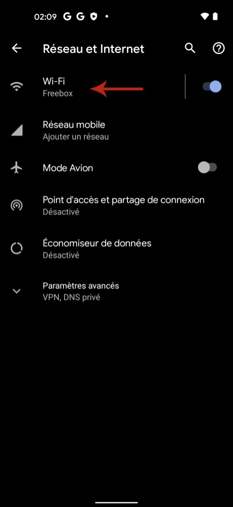 Comment connaitre son adresse IP sur Android 02