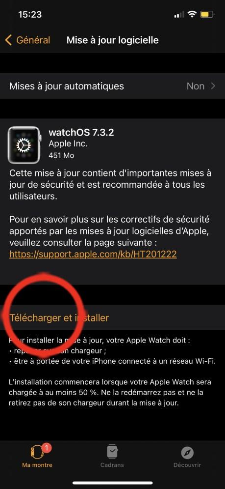 Comment Mettre à Jour son Apple Watch avec l'iPhone 03
