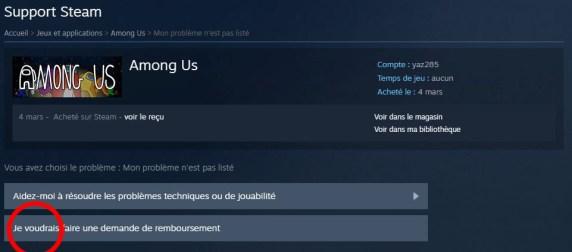 Comment se faire rembourser un jeu Steam 05