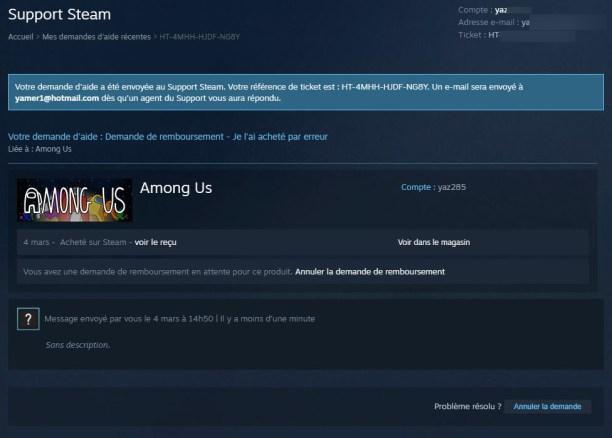 Comment se faire rembourser un jeu Steam 10