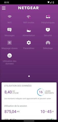 Visiblement conçue avec une solution multiplateforme, l'application Netgear Mobile détonne sur Android comme sur iOS