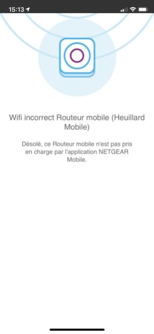 L'application ne trouve pas le routeur auquel l'iPhone est pourtant bien connecté. Un bug signalé depuis plusieurs années, notamment dans les avis négatifs des app stores.