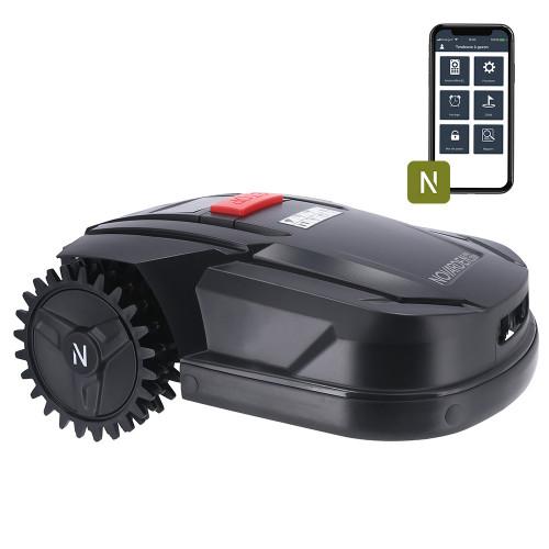 Le robot tondeuse Novarden NRL 250 Connect et son app // Source : Novarden