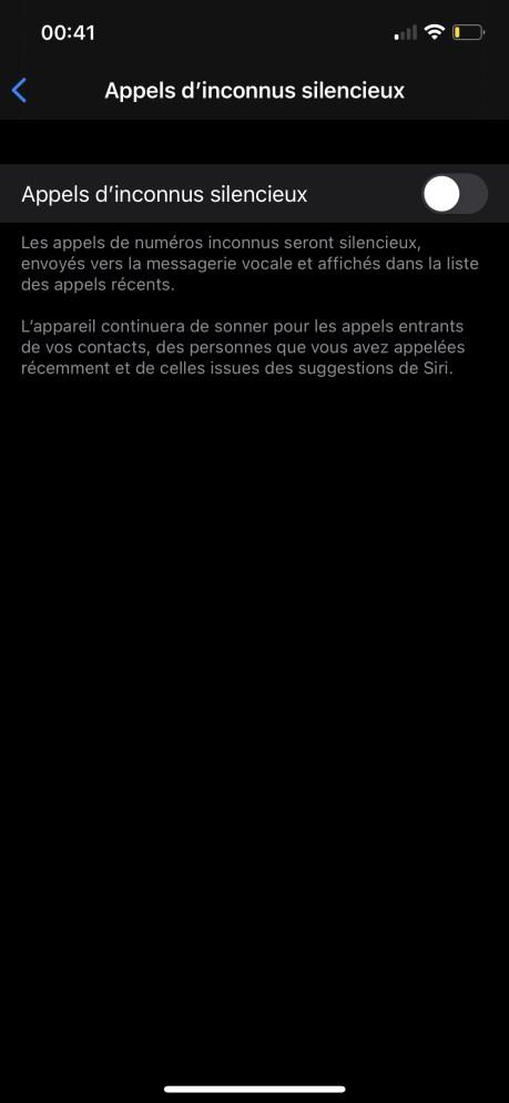 Comment mettre en sileniceux les numéros inconnus ou privés sur iPhone 05