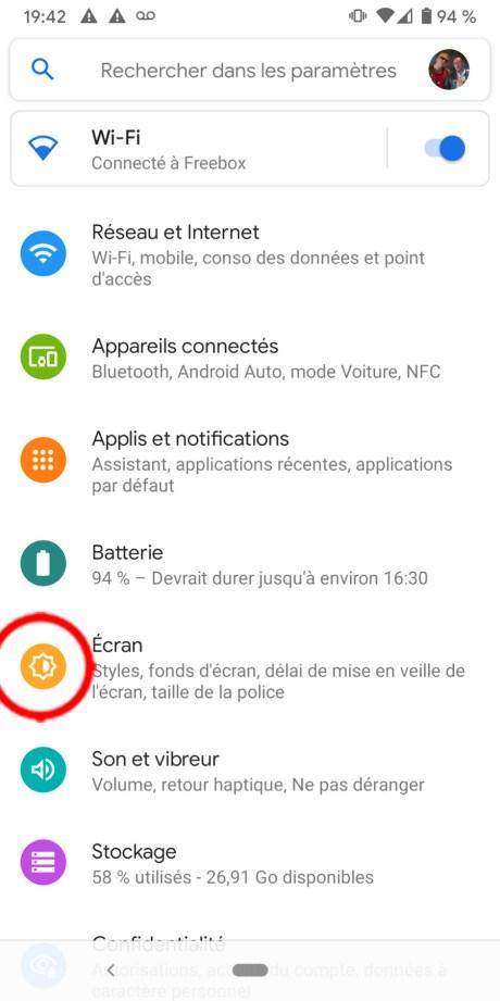 Comment régler le délai de mise en veille sur Android 02