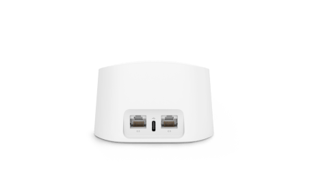 Le dos du système de Wi-Fi maillé eero 6 d'Amazon // Source : Amazon