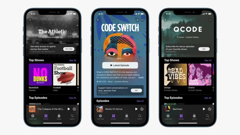 Les podcasts payants dans Apple Podcasts