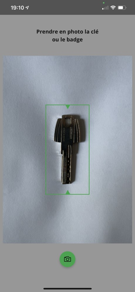 SecurClés just requires photos of your key // Source: FRANDROID
