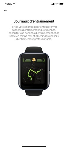 L'application HeyTap Health sur iPhone // Source : Oppo
