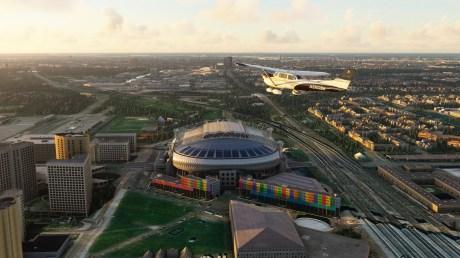 La Johan Cruyff Arena à Amsterdam dans Microsoft Flight Simulator // Source : Microsoft / Asobo Studio