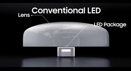 La construction des Mini LED vs les LED conventionnelles / Source : Samsung