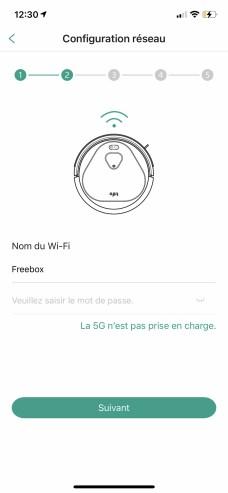 Entrez votre code Wi-Fi pour que le robot s'y connecte // Source : Frandroid / Yazid Amer