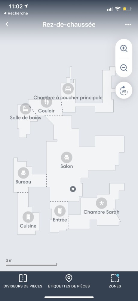 """La carte élaborée par le Roomba i7+ est plus """"propre"""" que celle du Viomi S9 // Source : Frandroid / Yazid Amer"""
