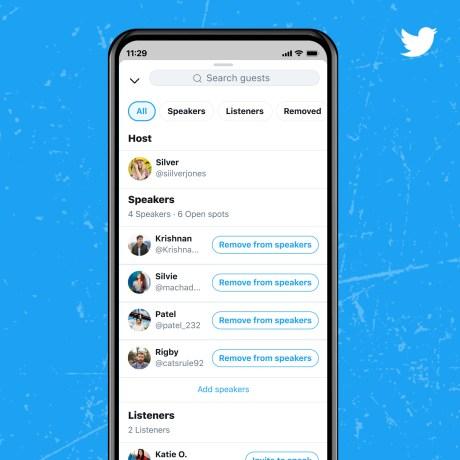 Choisissez vos intervenants sur Twitter Space
