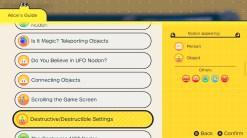 L'Atelier du jeu vidéo Nintendo menu