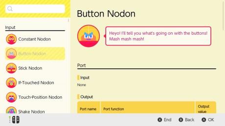 L'Atelier du jeu vidéo Nintendo nodon option bouton