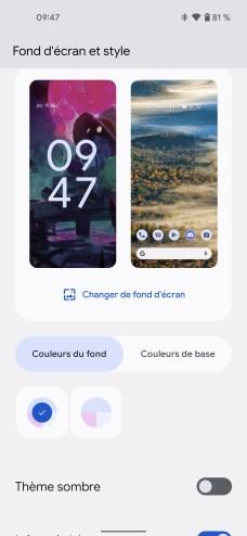 Android 12 Beta 3 captures ecran (8)