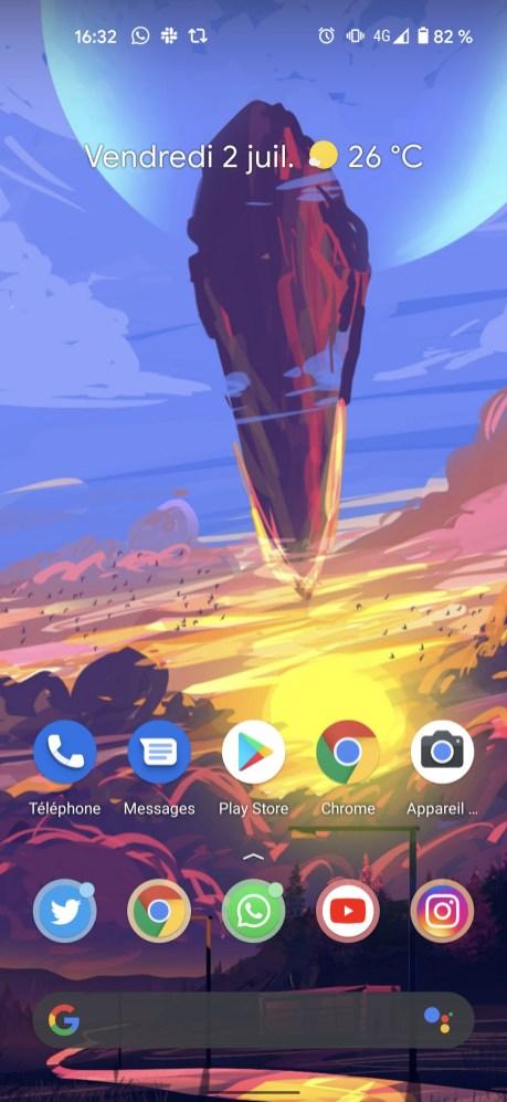 Capture écran Google Pixel 5