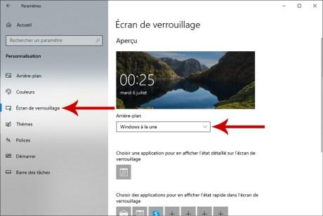 Comment personnaliser l'écran de verrouillage Windows 10 02