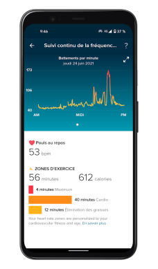 Fitbit Luxe - App - Heart rate (3)