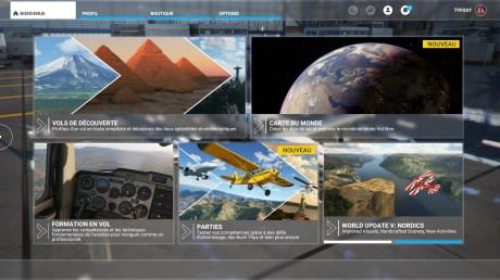 L'interface de Flight Simulator sur console // Source : Xbox