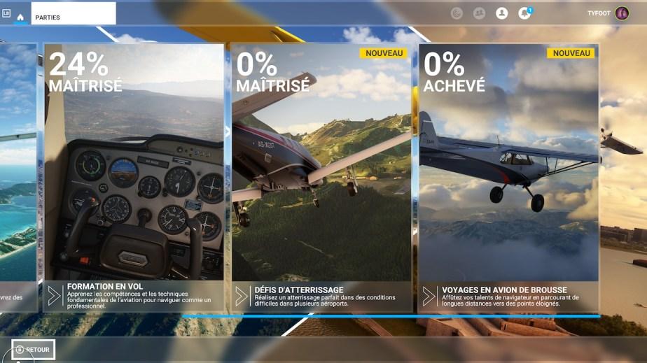 Les tutoriels de Flight Simulator sur Xbox Series // Source : Xbox