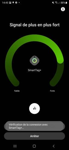 Une fois assez près, le SmartTag+ se connecte.