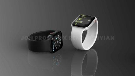 Un rendu possible de l'Apple Watch Series 7 // Source : Jon Prosser x Rendersbylan
