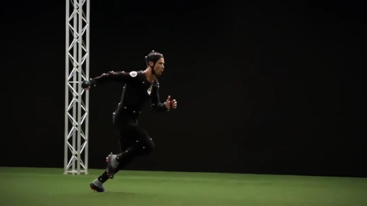 La session de motion capture de Ronaldo lors de FIFA 18