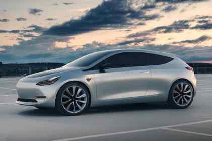 Un des rendus de la Tesla Model 2