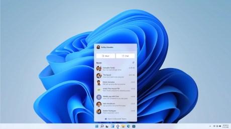 Teams est accessible depuis la barre des tâches de Windows 11