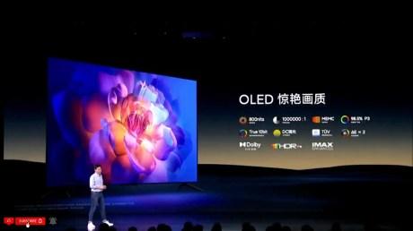 Xiaomi a présenté une nouvelle TV OLED, la V21. // Source : Xiaomi