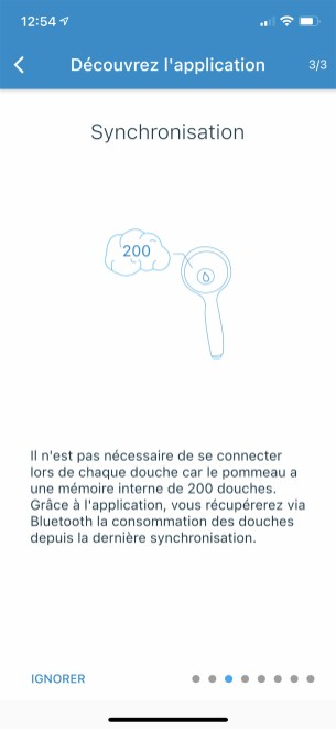 Après avoir ouvert l'arrivée d'eau, la coonnexion Bluetooth sera possible // Source : Frandroid - Yazid Amer